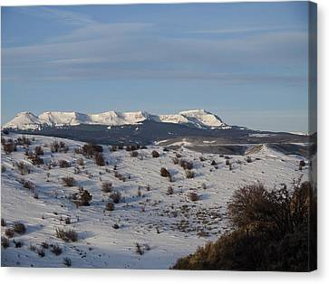Valley View Of Flat Tops Canvas Print by Daniel Hebard