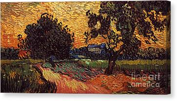 Van Gogh: Castle, 1890 Canvas Print by Granger