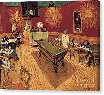 Van Gogh Night Cafe 1888 Canvas Print by Granger