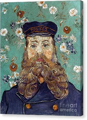 Van Gogh: Postman, 1889 Canvas Print by Granger