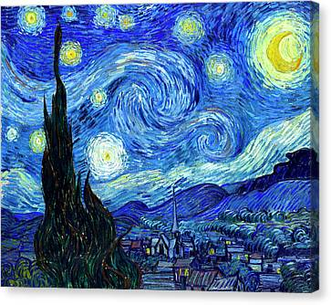 Van Gogh Starry Night Canvas Print by Vincent Van Gogh