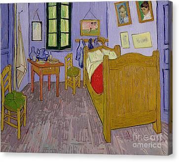 Van Goghs Bedroom At Arles Canvas Print by Vincent Van Gogh