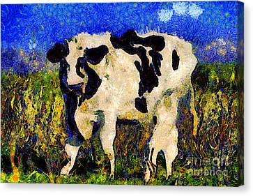 Van Gogh.s Big Bull . 7d12437 Canvas Print by Wingsdomain Art and Photography