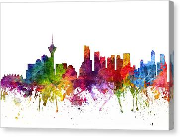 Vancouver Canada Cityscape 06 Canvas Print by Aged Pixel