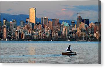 Vancouver Canoe Canvas Print by Pierre Leclerc Photography