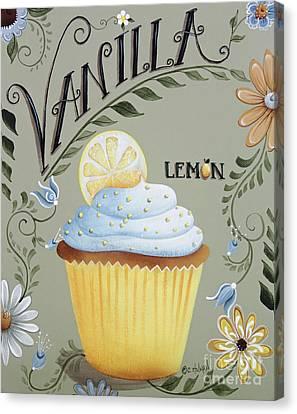 Vanilla Lemon Cupcake Canvas Print by Catherine Holman