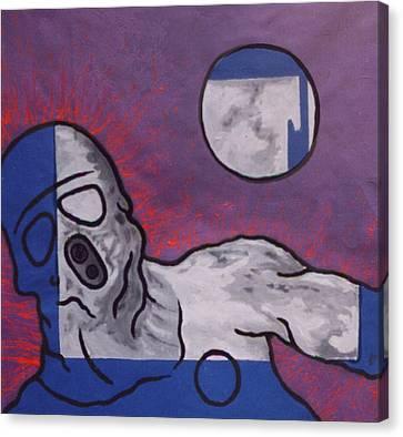 Variation In Blue Canvas Print by Pierre Davis-Dutreix
