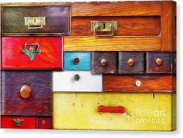 Various Old Drawers - In Utter Secrecy Canvas Print by Michal Boubin
