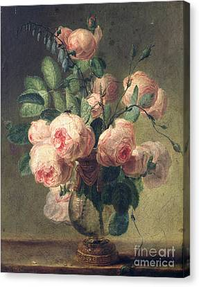 Vase Of Flowers Canvas Print by Pierre Joseph Redoute