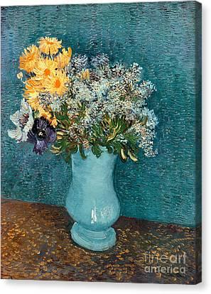 Vase Of Flowers Canvas Print by Vincent Van Gogh