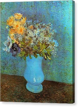Vase With Flowers Canvas Print by Van Gogh