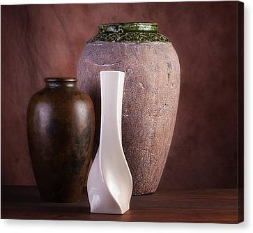 Vases With A Twist Canvas Print by Tom Mc Nemar
