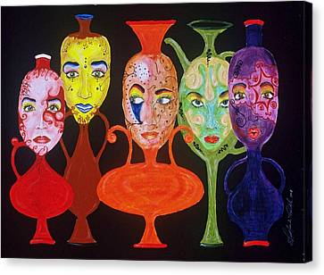 Vases With Faces Canvas Print by Shellton Tremble
