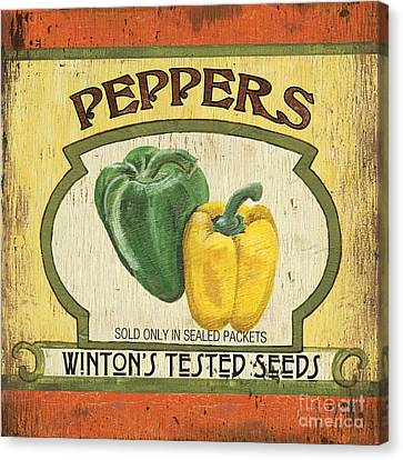 Veggie Seed Pack 2 Canvas Print by Debbie DeWitt