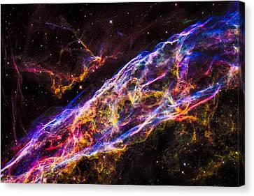 Veil Nebula Supernova Remnant Canvas Print by Marco Oliveira