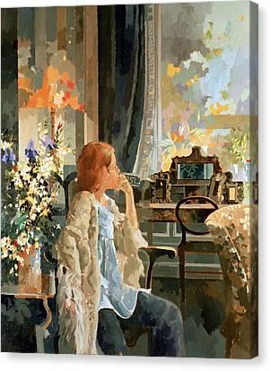Veil Of Elegance Canvas Print by Peter Miller