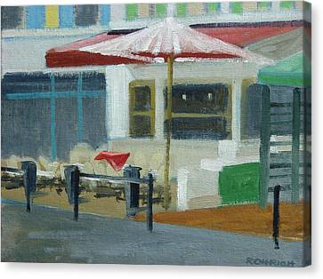 Vence Restaurant Canvas Print by Robert Rohrich