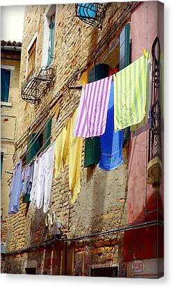 Venetian Clothes Canvas Print by Valentino Visentini
