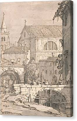 Venetian Fantasy  Canvas Print by Canaletto