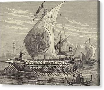 Venetian Galley Canvas Print by English School