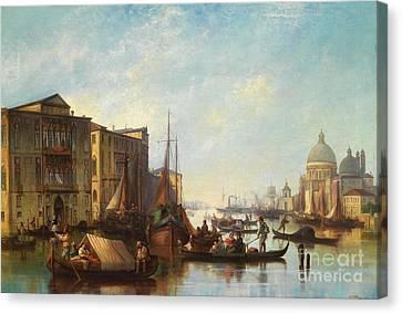 Venetian Scene Canvas Print by Celestial Images