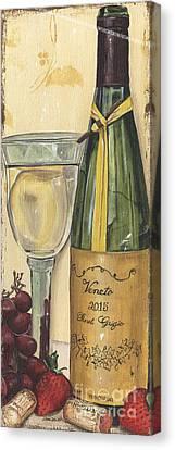 Veneto Pinot Grigio Panel Canvas Print by Debbie DeWitt