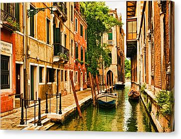 Venice Alley Canvas Print by Mick Burkey
