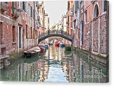 Venice Bridge Crossing 2 Canvas Print by Heiko Koehrer-Wagner