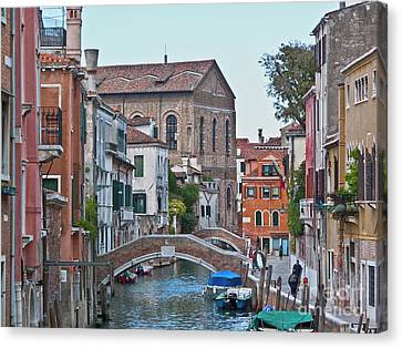Venice Double Bridge Canvas Print by Heiko Koehrer-Wagner