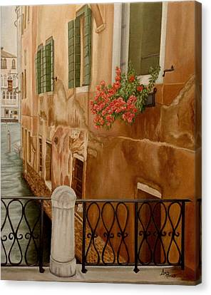 Venice In June Canvas Print by Angeles M Pomata