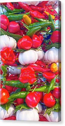 Venice Market Goodies Canvas Print by Heiko Koehrer-Wagner