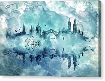 Venice Skyline 3 Canvas Print by Lilia D