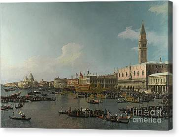 Venice The Basin Of San Marco On Ascension Day Canvas Print by Celestial Images