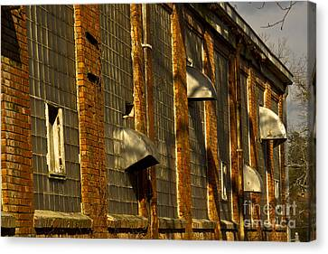 Venting Hot Air The Mary Leila Cotton Mill 1899 Canvas Print by Reid Callaway