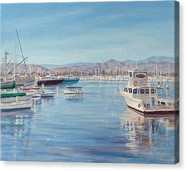 Ventura Harbor II Canvas Print by Tina Obrien