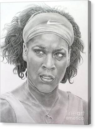 Venus Williams Canvas Print by Blackwater Studio