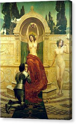 Venusberg Scene From Tannhauser Canvas Print by John Collier