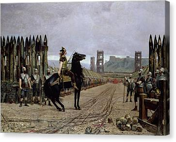 Vercingetorix Before Caesar Canvas Print by Henri Paul Motte