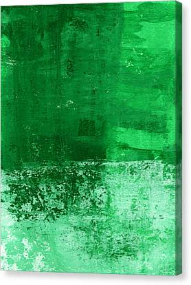 Verde-  Contemporary Abstract Art Canvas Print by Linda Woods