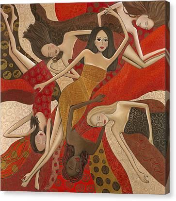 Vermilion Dream Canvas Print by Denise Daffara