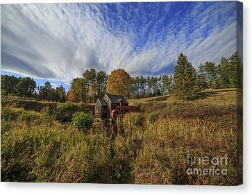 Vermont Grist Mill Panoramic Canvas Print by Edward Fielding