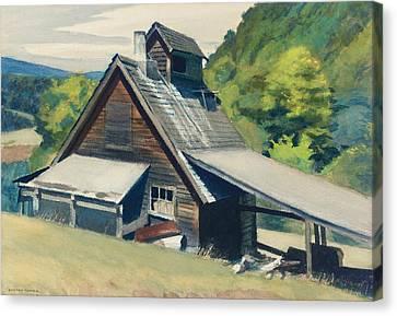 Vermont Sugar House Canvas Print by Edward Hopper