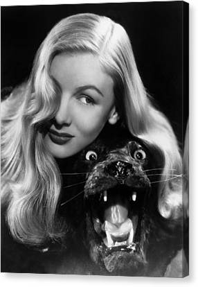 Veronica Lake (1919-1973) Canvas Print by Granger