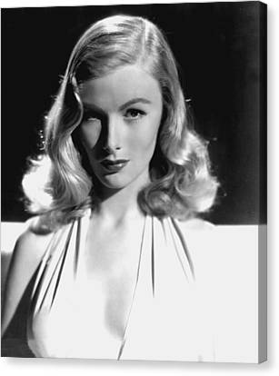 Veronica Lake, Portrait, As Seen Canvas Print by Everett