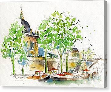Vers Pont Des Artes Canvas Print by Pat Katz
