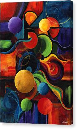 Vertical Synergy Canvas Print by Laura Swink