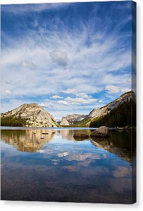 Vertical Version Of Lake Tenaya Canvas Print by Mimi Ditchie Photography