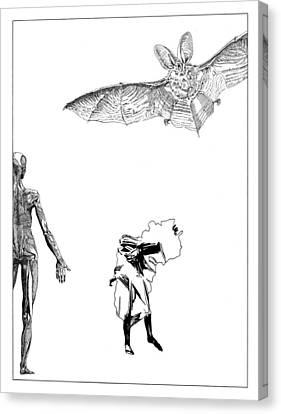 Vesalius Bat Thing Canvas Print by Stan  Magnan