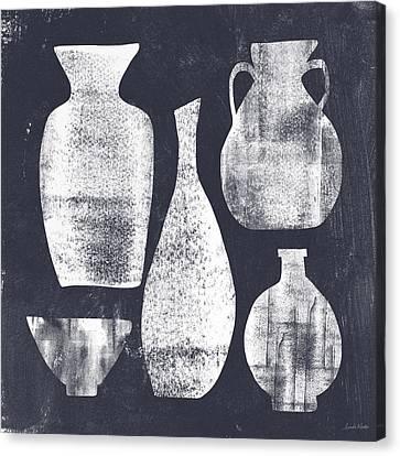 Vessel Sampler- Art By Linda Woods Canvas Print by Linda Woods