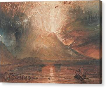 Vesuvius In Eruption Canvas Print by Joseph Mallord William Turner